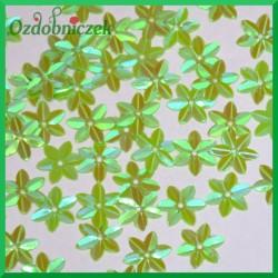 Cekiny kwiatuszki mini zielone opalizujące 5g/160szt.