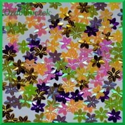 Cekiny kwiatuszki mini kolorowe opalizujące 5g/160szt.