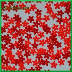 Cekiny kwiatuszki małe mix czerwony 14g ET