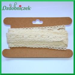 Koronka bawełniana beżowa ażurowe oczko - KRB111