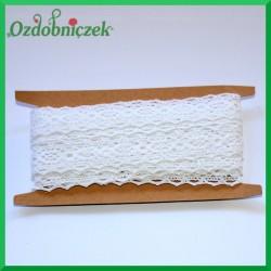 Koronka bawełniana biała ażurowy szlaczek z łezkami - KRB94