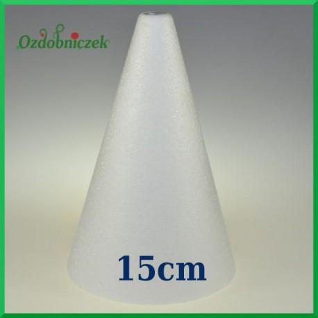 Stożek styropianowy 15cm