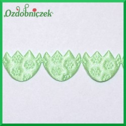 Aplikacje pisanki jasno zielone