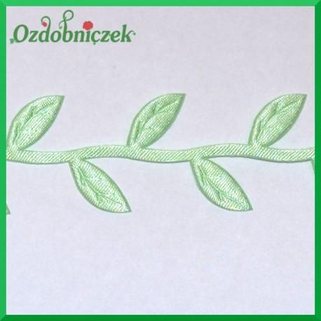 Aplikacje listki na gałązce jasno zielone