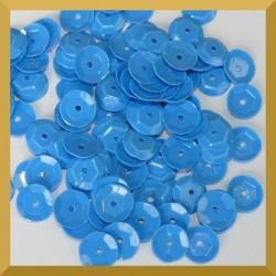 Cekiny 8mm 12g niebieskie matowe