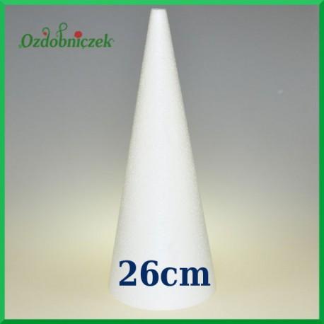 Stożek styropianowy 26cm