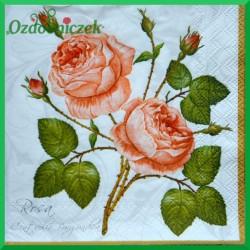 Serwetka do Decoupage gałązka róży 1 szt.