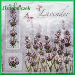 Serwetka do Decoupage kwiat lawendy 1 szt.