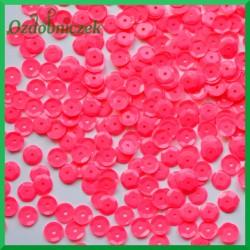 Cekiny neonowy róż matowe 12 g / 850 szt.