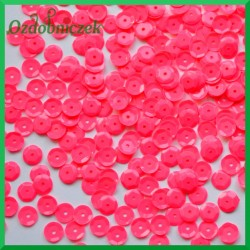 Cekiny 6 mm neonowy róż matowe