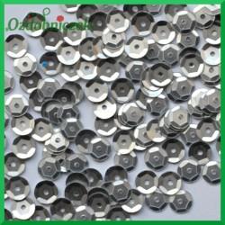 Cekiny 6 mm srebrne matowe