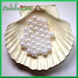 Perełki 10 mm  białe perłowe