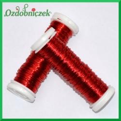 Drut florystyczny PET czerwony 25 g
