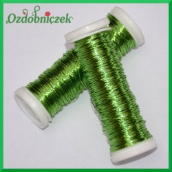 Drut florystyczny PET jasno zielony 25 g
