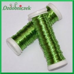 Drut florystyczny PET jasno zielony 30mb