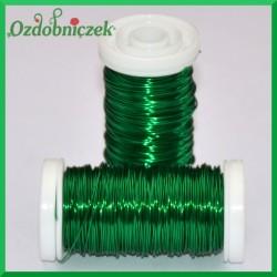 Drut florystyczny prosty zielony 75 g