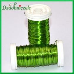 Drut florystyczny prosty jasno zielony 75 g