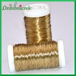 Drut florystyczny prosty złoty 75 g