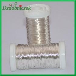 Drut florystyczny prosty srebrny 75 g