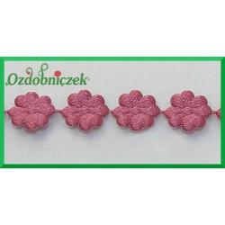Aplikacje kwiatuszki mini ciemny róż