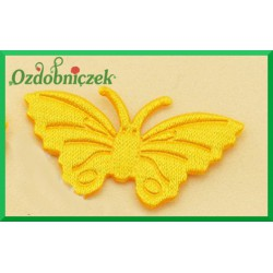 Aplikacje motylki żółte 5szt