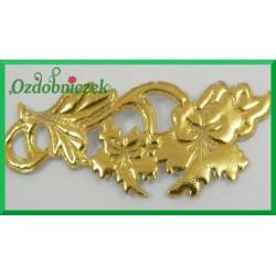 Aplikacje ornament gipiura złota