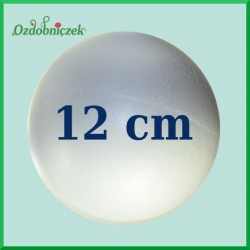 Kula styropianowa duża, bombka 12cm