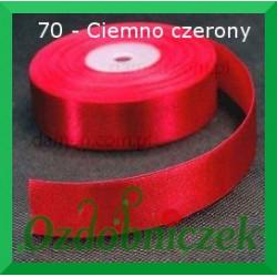 Wstążka tasiemka satynowa 25mm ciemno czerwona 70 SZTYWNA