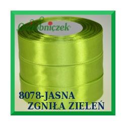 Wstążka tasiemka satynowa 25mm kolor jasna zgniła zieleń  8078