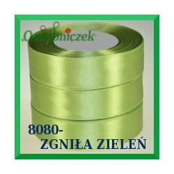 Wstążka tasiemka satynowa 25mm kolor zgniła zieleń  8080