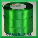 Wstążka tasiemka satynowa 25mm kolor zielony 8086