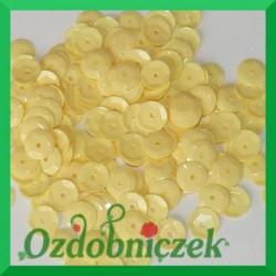 Cekiny 6mm jasno żółte matowe