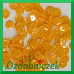 Cekiny kółka łamane 8mm 17g żółte słoneczne matowe