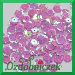 Cekiny kółka łamane 8mm 17g liliowe opalizujące