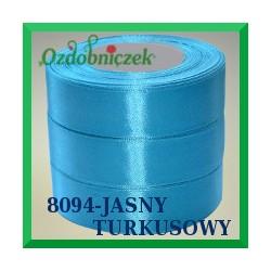 Wstążka tasiemka satynowa 25mm kolor jasny turkusowy 8094