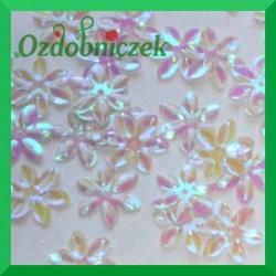 Cekiny kwiatuszki mini białe opalizujące 5g/160szt.