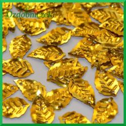 Cekiny listki metaliczne złote