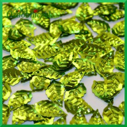 Cekiny listki metaliczne zielone