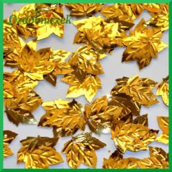 Cekiny listki klonu metaliczne złote