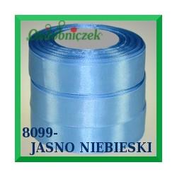 Wstążka tasiemka satynowa 25mm kolor jasny niebieski 8099