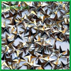 Cekiny gwiazdki wypukłe małe srebrne