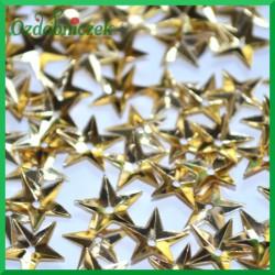Cekiny gwiazdki wypukłe małe złote