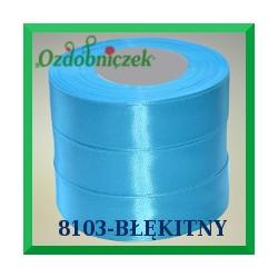 Wstążka tasiemka satynowa 25mm kolor błękitny 8103