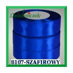 Wstążka tasiemka satynowa 25mm kolor szafirowy 8107