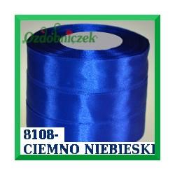 Wstążka tasiemka satynowa 25mm kolor ciemny niebieski 8108
