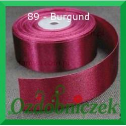 Wstążka tasiemka satynowa 25mm burgund 89 SZTYWNA