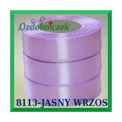 Wstążka tasiemka satynowa 25mm kolor wrzosowy 8113