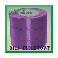 Wstążka tasiemka satynowa 25mm kolor fioletowy 8115