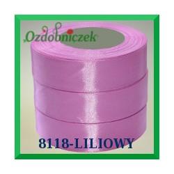 Wstążka tasiemka satynowa 25mm kolor liliowy 8118