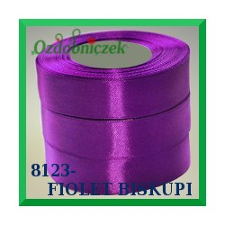 Wstążka tasiemka satynowa 25mm kolor fiolet biskupi  8123